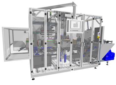 Casepacker, Kartonverpackung, oli-Spezialanlagen GmbH