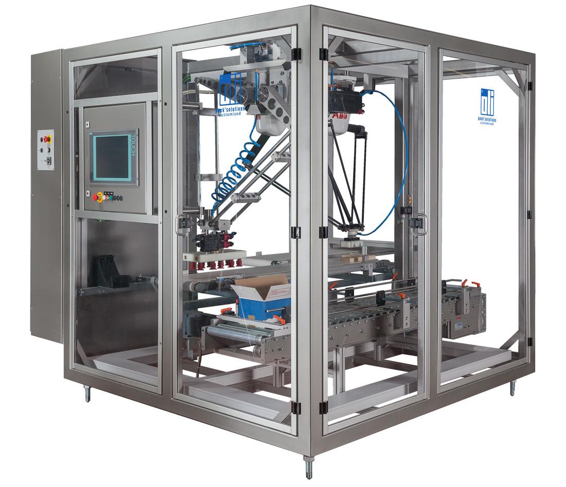 Verpackungsroboter, Kartonverpackung, oli-Spezialanlagen GmbH