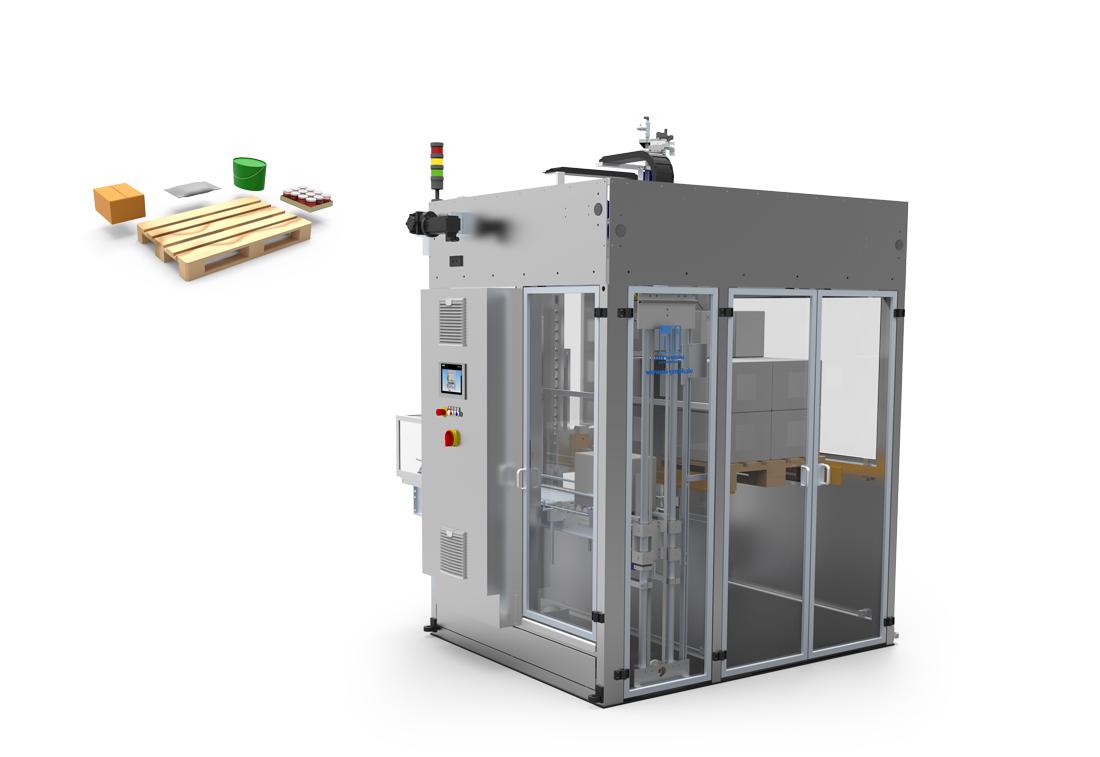 Verpackungsmaschinen, Palletiser, Palettierer, oli-Spezialanlagen GmbH